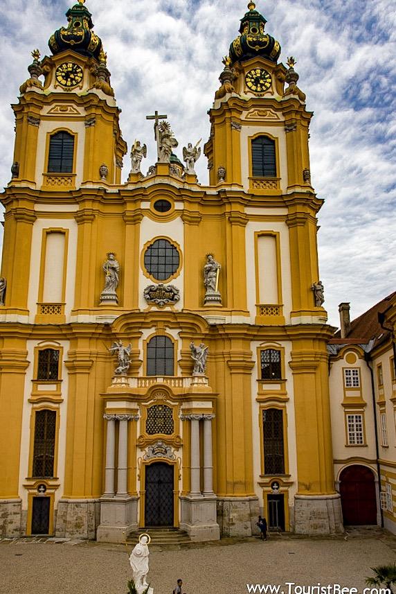 Melk, Austria - the old entrance to Melk Abbey