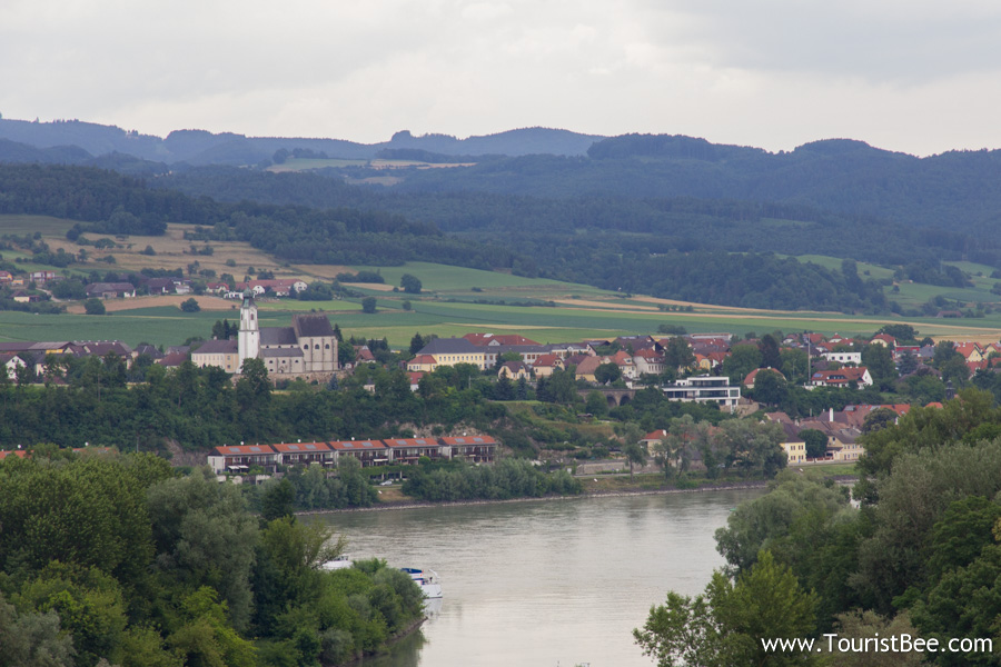 Melk, Austria - A portion of River Danube passing near the village of Melk