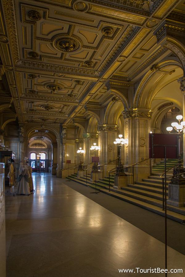 Vienna, Austria - Beautiful interior of the Vienna Opera building
