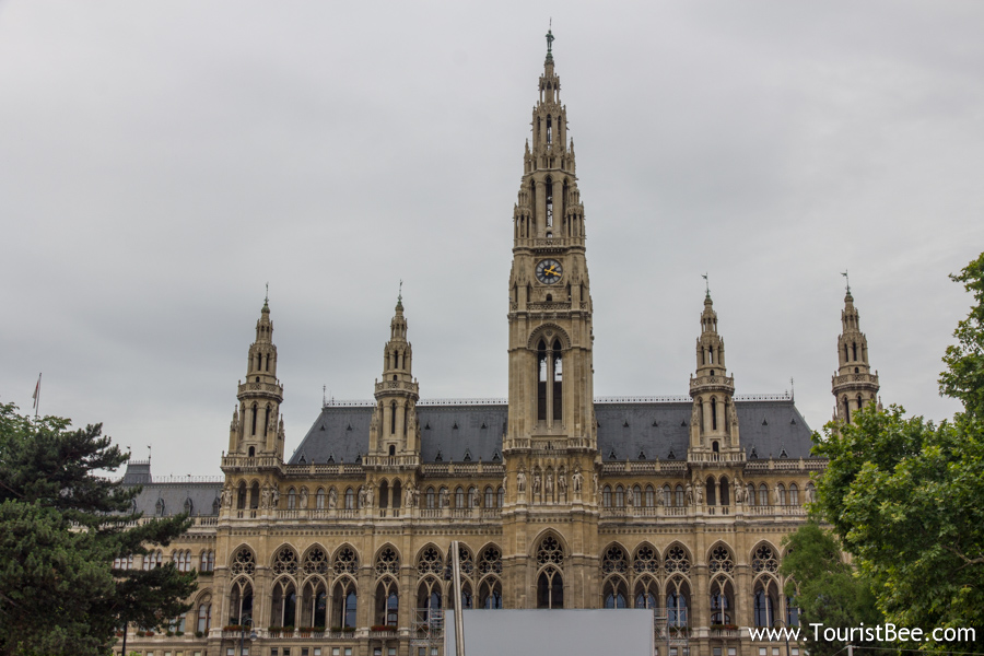 Vienna, Austria - Front view of the Vienna City Hall building