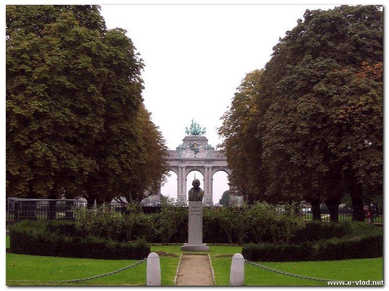 Brussels, Belgium - Arcade du Cinquantenaire and Park du Cinquantenaire