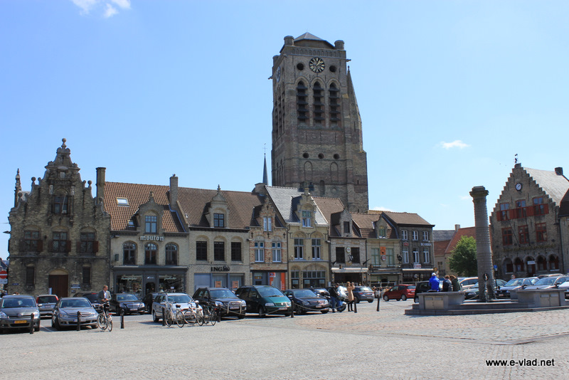 Veurne, Belgium - Grote Markt is the beautiful main square in Veurne.