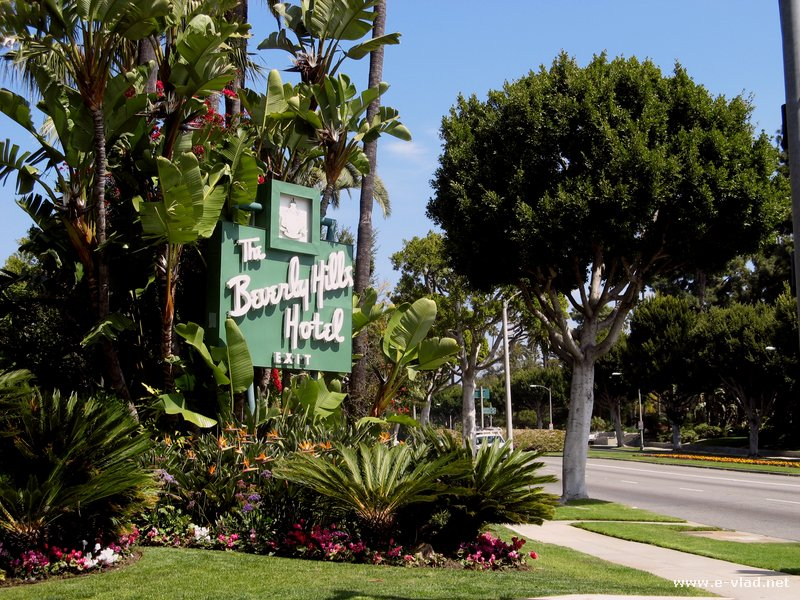 Beverly Hills, California -  The Beverly Hills Hotel is a famous landmark.