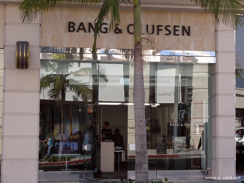 Beverly Hills, California -  The Bang & Olufsen store on Rodeo Drive.
