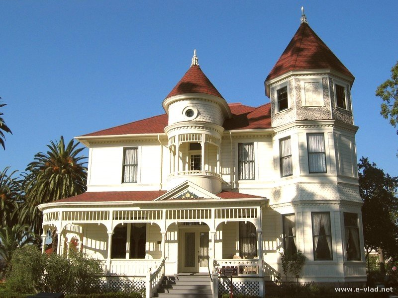 The Camarillo Ranch House is a Victorian Queen Anne style house built ...