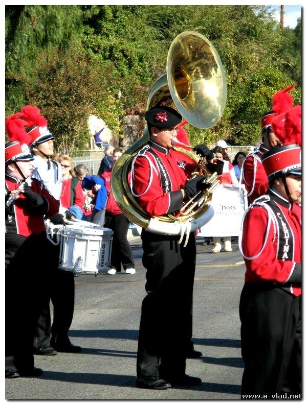 Camarillo Christmas Parade.Camarillo California Local High School Band On Parade