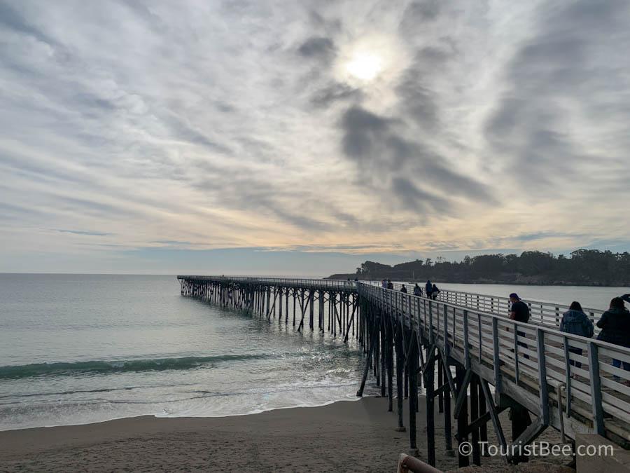 The San Simeon Pier at WR Hearst State Beach