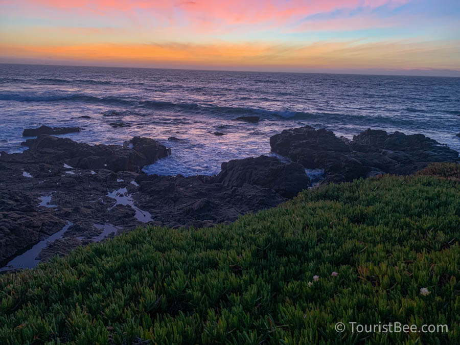 Sunset seen from the Moonstone Beach Boardwalk near Leffingwell Landing