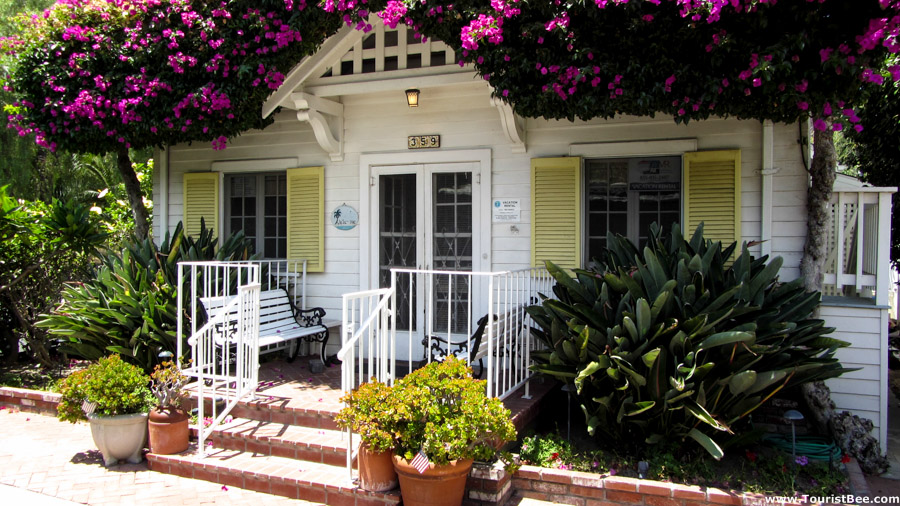 Avalon, California - Small country cottage covered in flowers