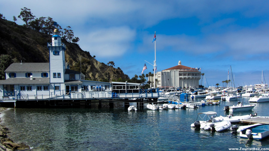 Avalon, Catalina Island - The Lighthouse and Casino buildings at Avalon Bay