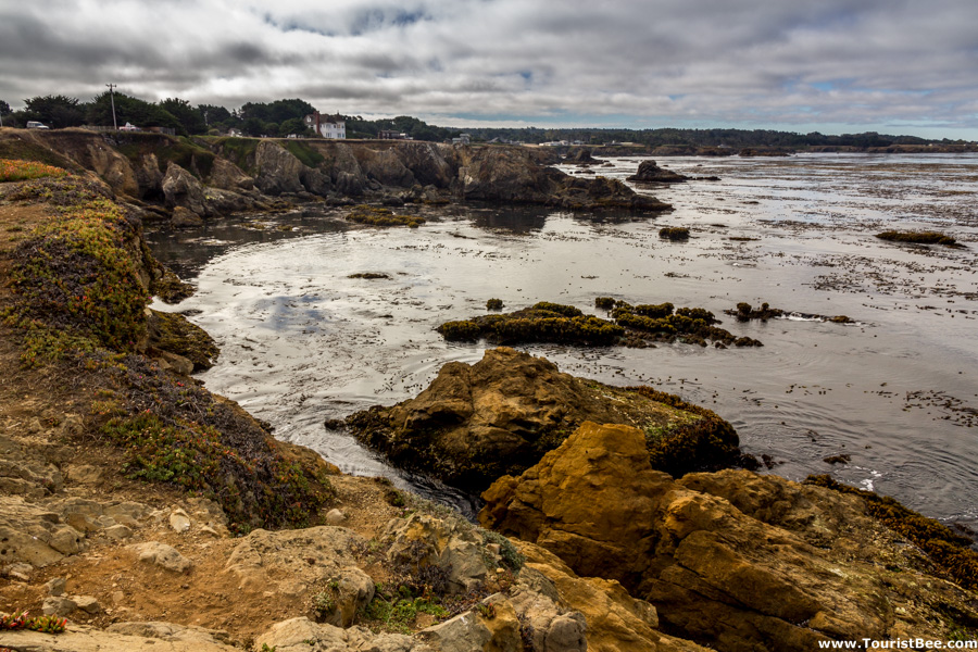 Fort Bragg, California - Looking south from Pomo Bluffs park