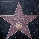 Mickey Mouse on Hollywood Boulevard.