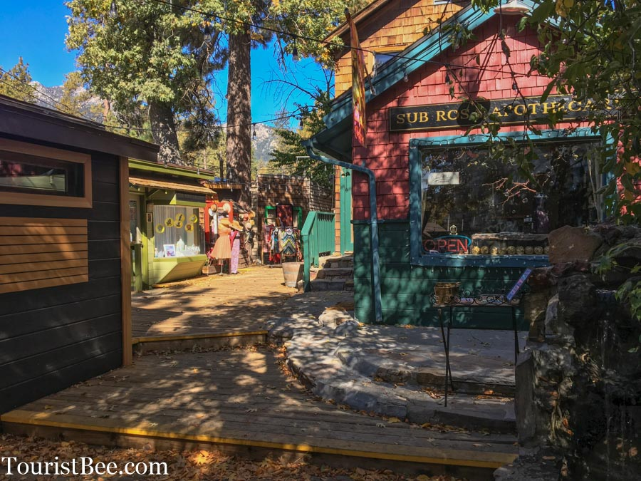 Cute colorful shops in Idyllwild