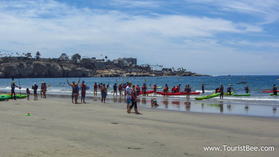 Locals enjoying the beautiful beach at La Jolla Shores
