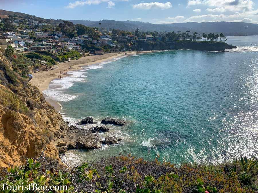 Beautiful view of Crescent Bay in Laguna Beach