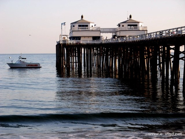Malibu, California - View of the Malibu Pier from the beach