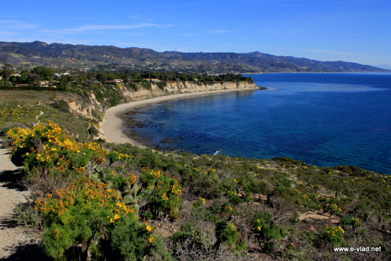 Malibu, California - Amazing view of the Santa Monica Bay at Point Dume