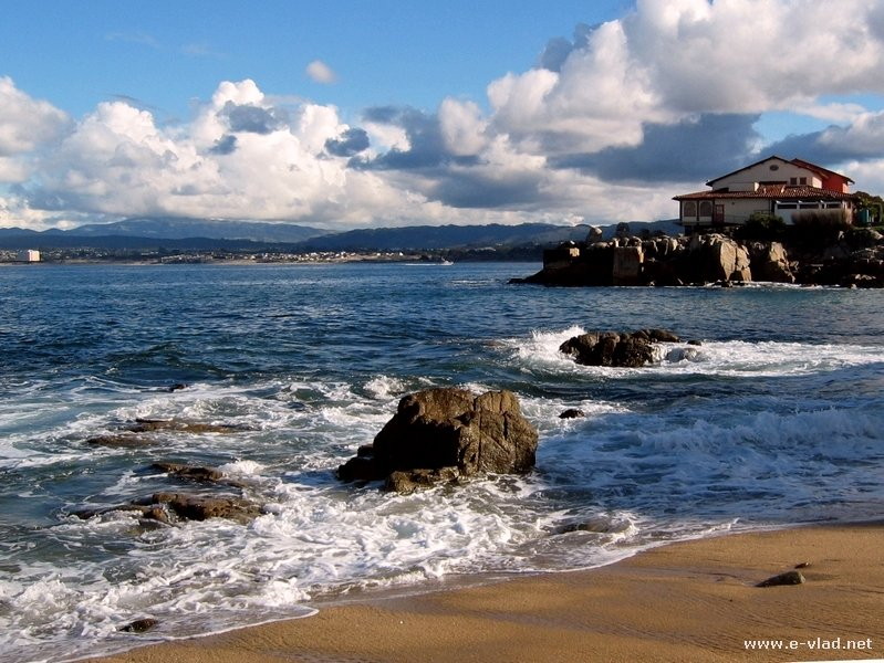 Small beach on the coast of Monterey
