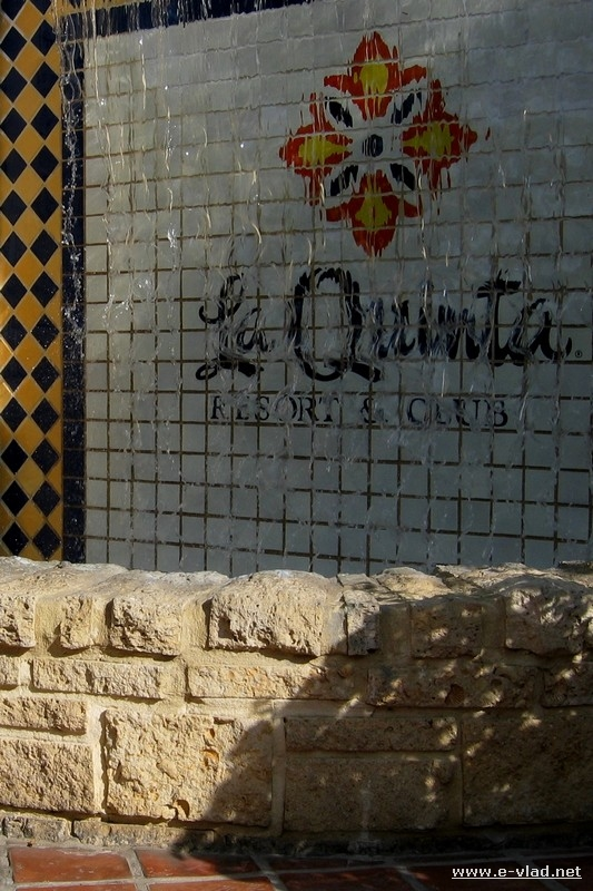 Water mosaic showing the La Quinta Hotel logo