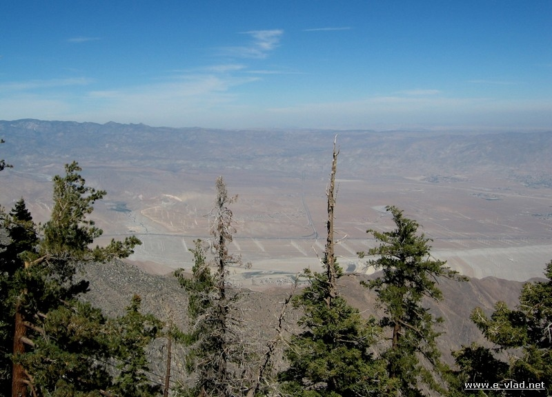 Amazing panorama of Palm Springs seen from the San Jacinto mountain after taking the aerial tramway.