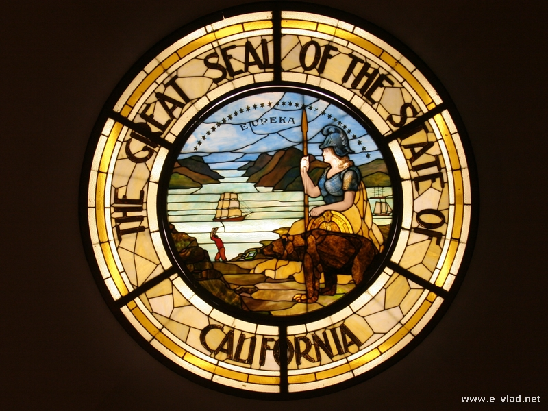 The Great Seal of the State of California at the Sacramento State Capitol Museum.