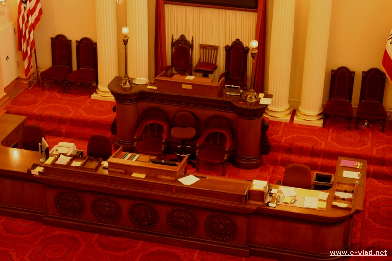 The Red Room is the Senate room at the California State Capitol.