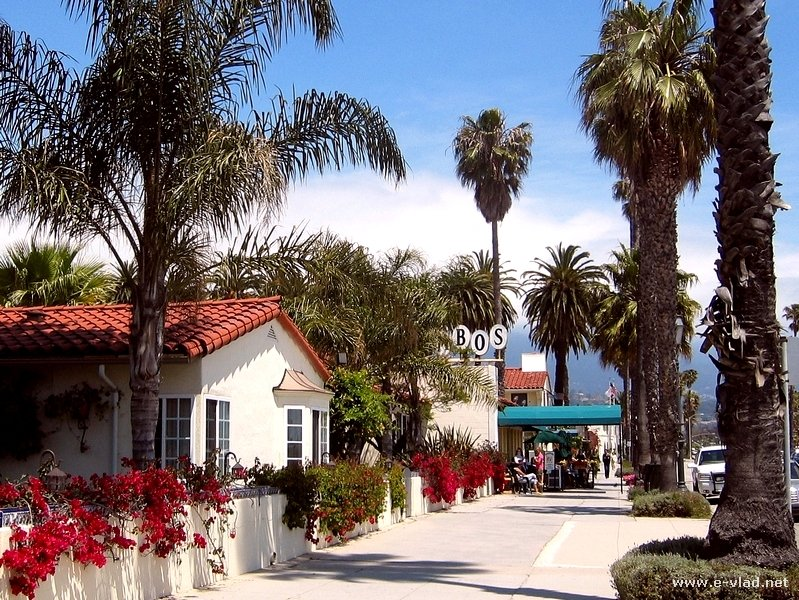 Santa Barbara, California -  Spanish style architecture abounds on the streets of Santa Barbara.