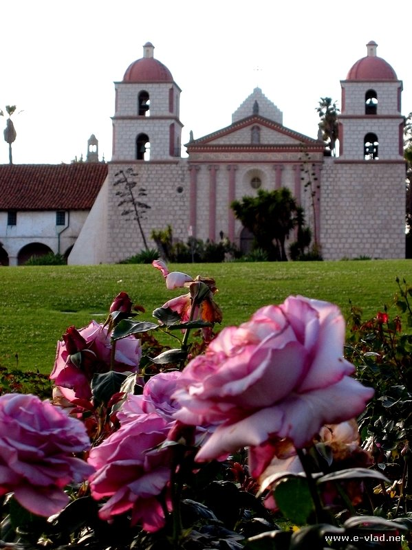 The Santa Barbara Mission in Santa Barbara, California.