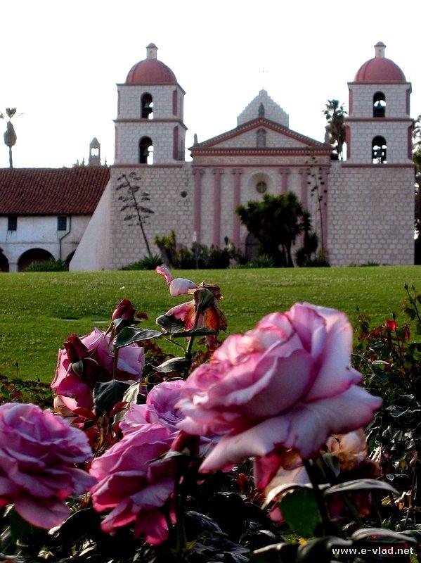 The Santa Barbara Mission in Santa Barbara, California.