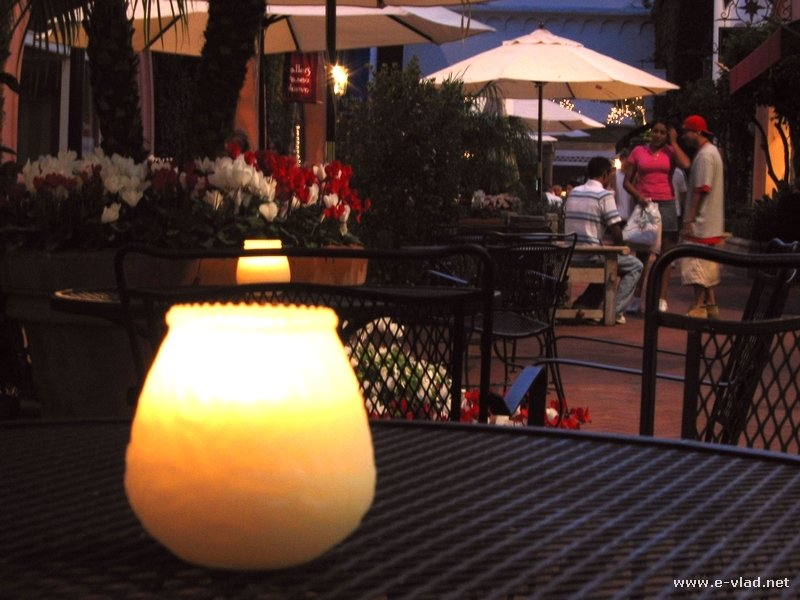 Santa barbara california candle light dinner table on state street aloadofball Images