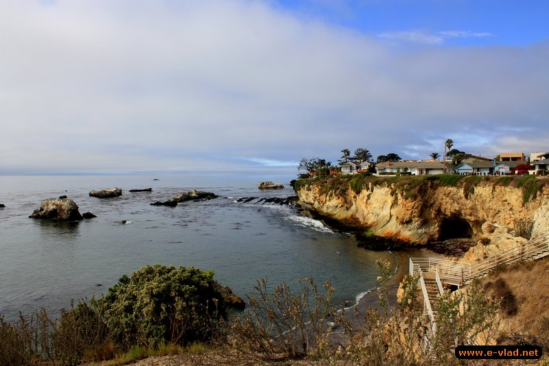 Shell Beach, California - Beautiful houses overlooking the rugged cliffs at Shell Beach.