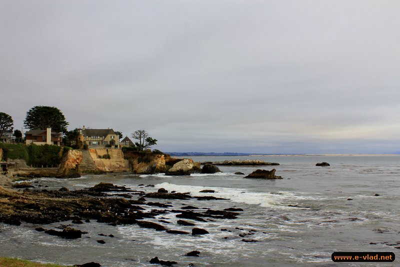 Shell Beach, California - Rocky shore line makes for a dramatic foreground in Shell Beach.