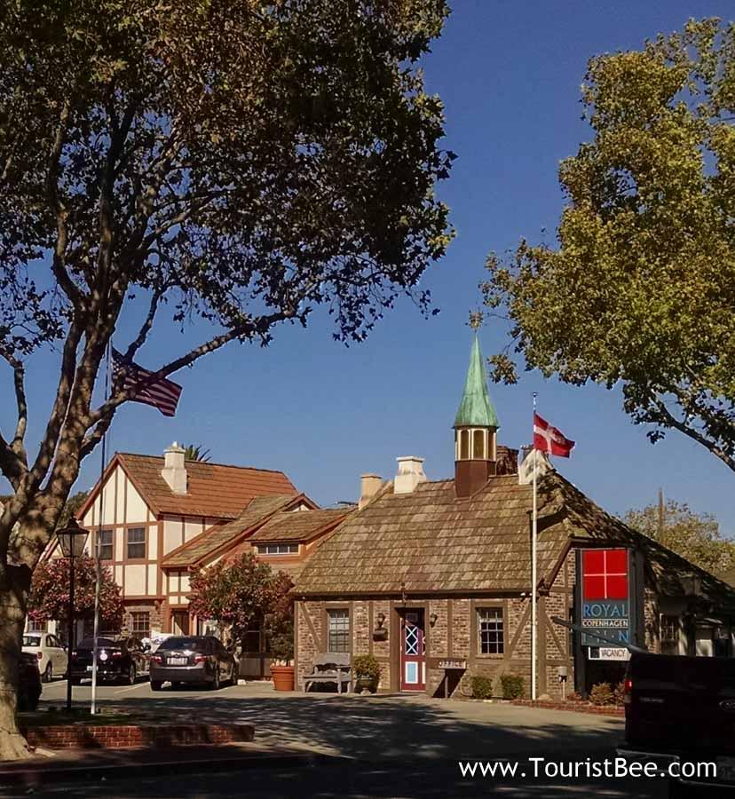 Scandinavian looking building in Solvang, California.