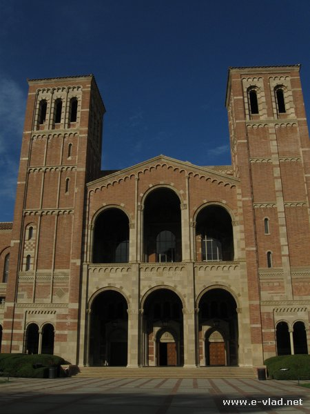 Royce Hall is one of the four original buildings on the UCLA campus. - Los Angeles, California