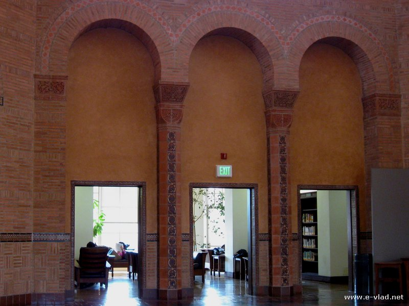 Arches inside the UCLA Powell Library - Los Angeles, California.