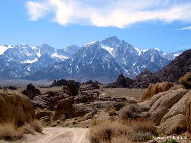 Mount Whitney is a majestic site to behold from Alabama Hills, California.