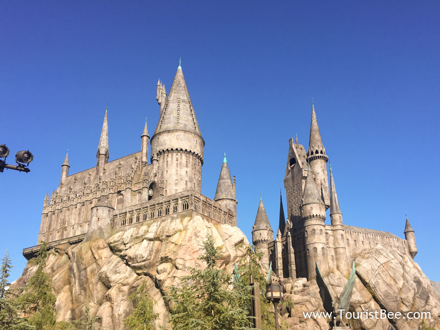 Universal Studios, Hollywood - The Hogwarts castle in The Wizarding World of Harry Potter