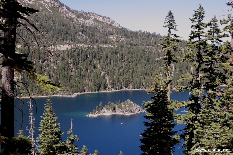 Fannette Island in Emerald Bay is the only Lake Tahoe island