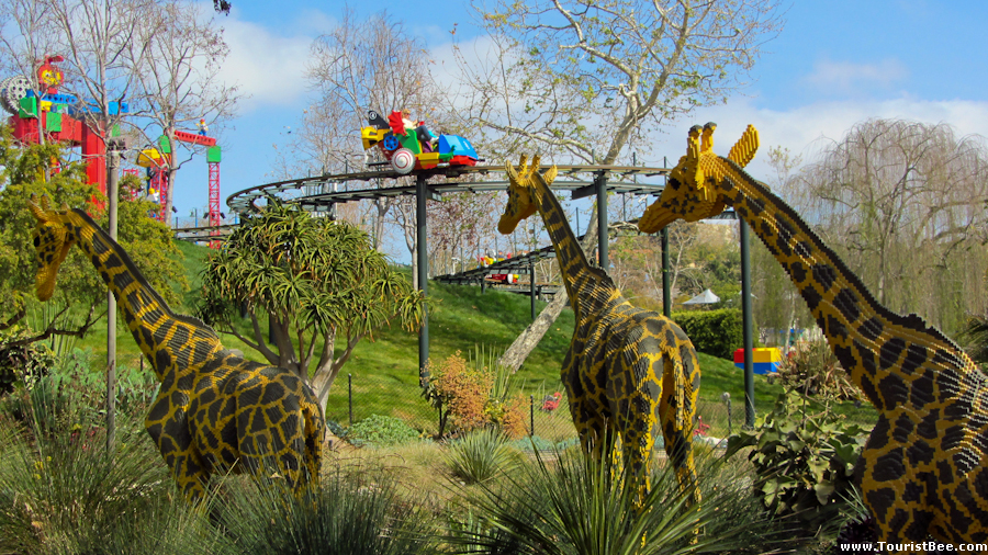 Legoland, California - The Sky Cruiser track and car seen from the Safari Treck track