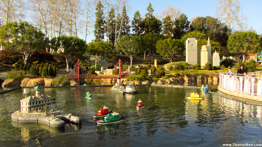 Legoland, California - Remote control boats can be driven on the small lake