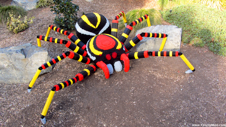 Legoland, California - Large colorful spider made from legos