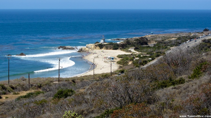 Beautiful view of the Leo Carrillo state beach seen from the Willow Creek Trail.