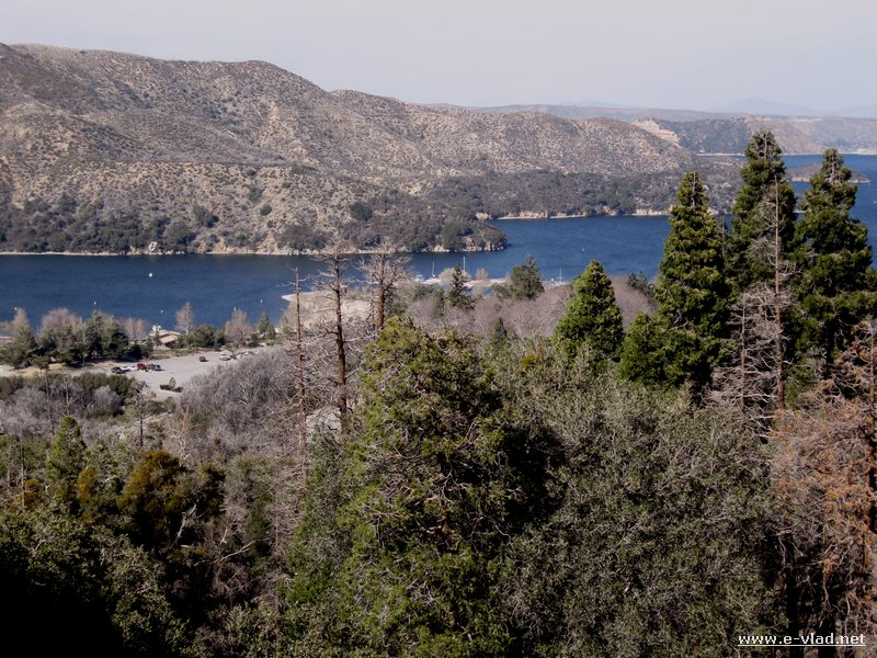Silverwood Lake, California - Panorama of Silverwood Lake seen from Highway 138.