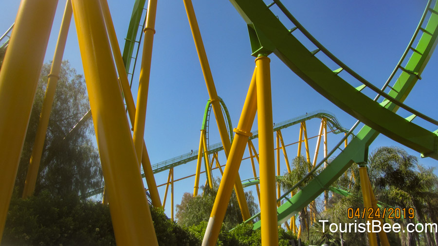 Six Flags Magic Mountain - Tracks for the Riddler's Revenge roller coaster ride