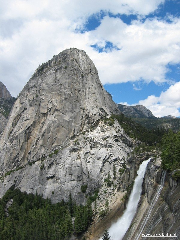 Nevada Fall seen from the John Muir trail