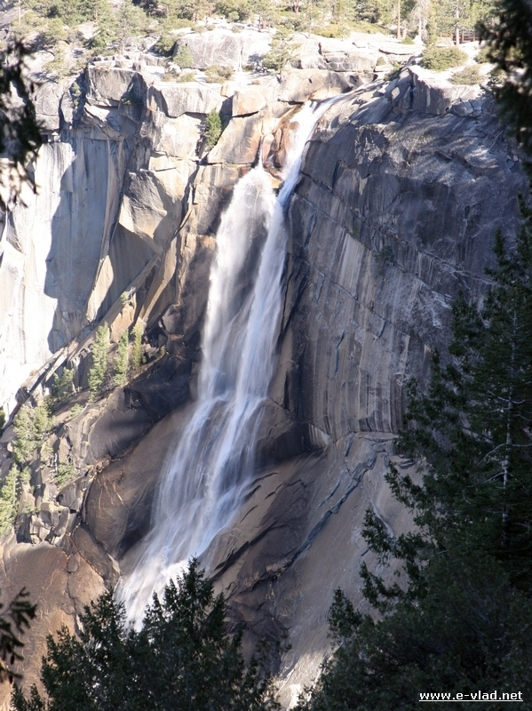 Yosemite National Park, California - Nevada Fall seen from the Panorama Trail