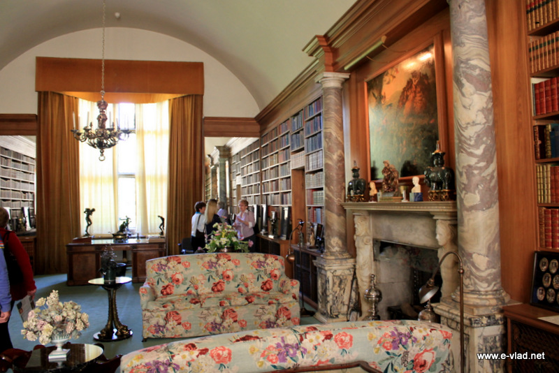 Anglesey Abbey, England - The library room at Anglesey is superbly furnished