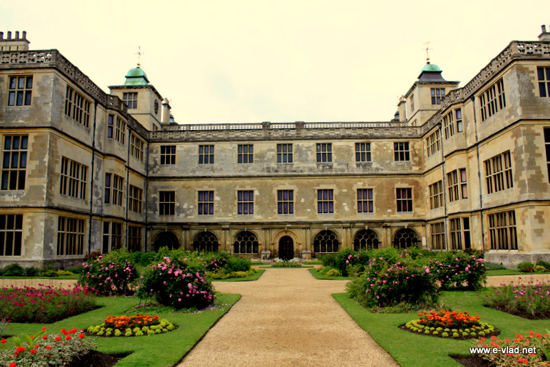 Audley End, Essex, England - The back of Audley End House seen from the beautiful gardens.