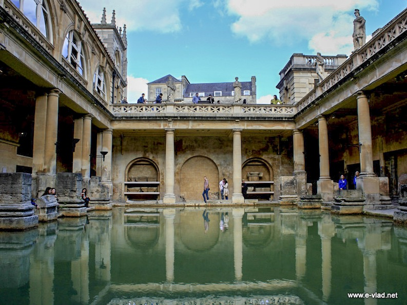 Bath, England - View of the main bath pool.