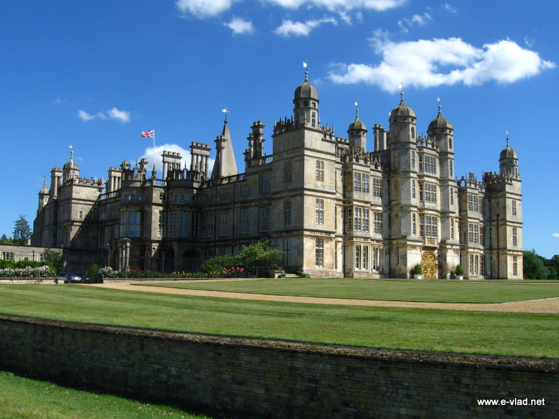 Burghley House, England - Another gorgeous view of Burghley House from the Deer Park